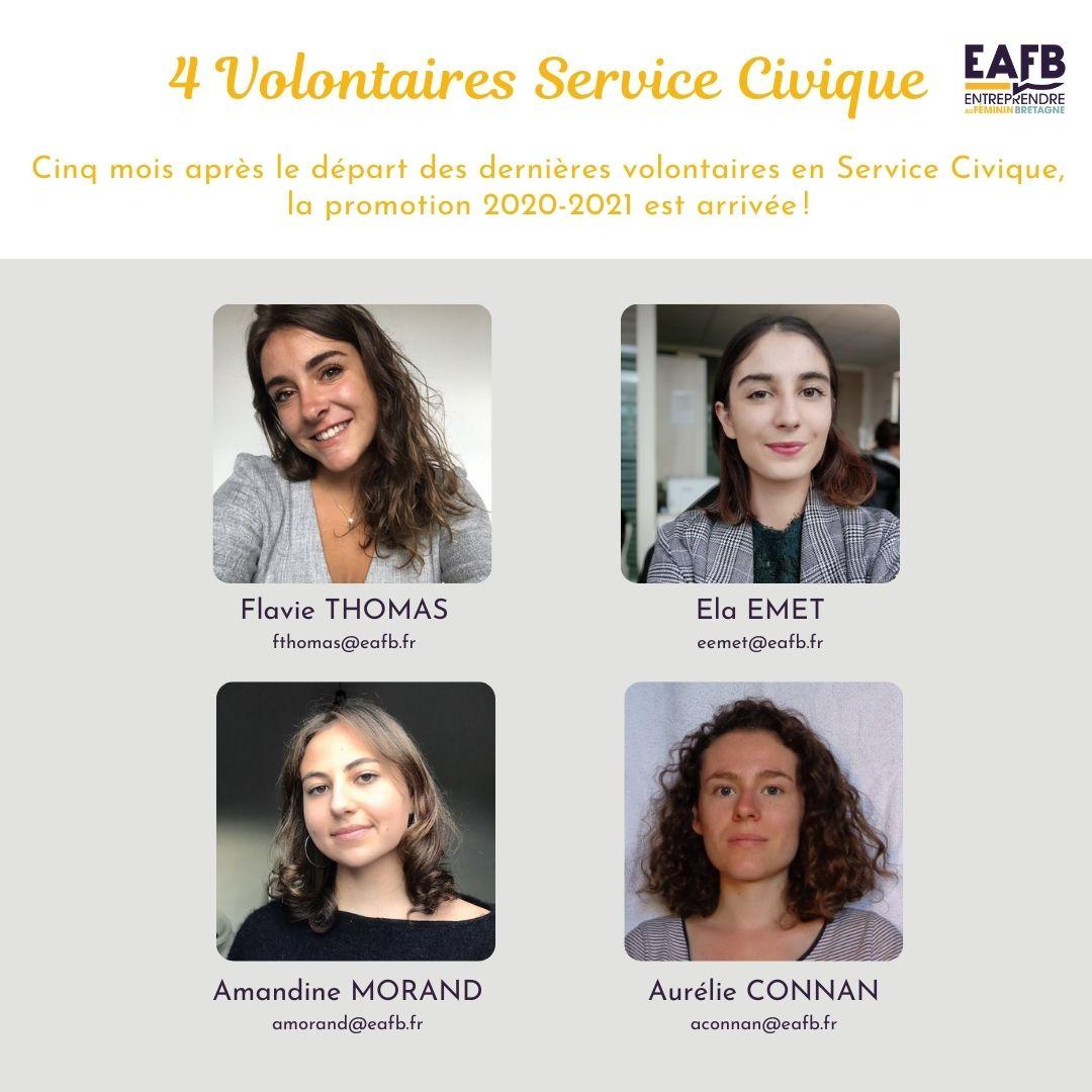 Volontaires service civique