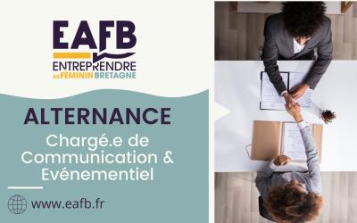 EAFB recrute un.e chargé.e de communication et d'événementiel en alternance