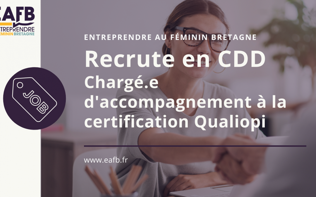 CDD accompagnement certification Qualiopi